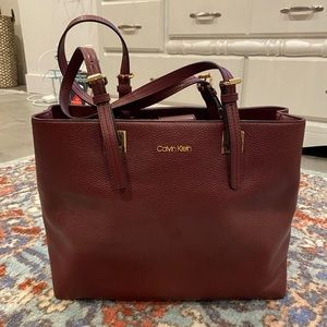 Calvin Klein Pebble Leather Shoulder Bag